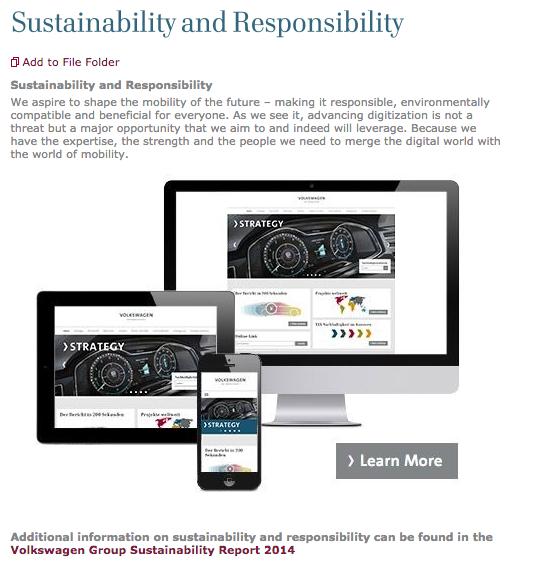 Este texto dentro de la web de Volkswagen, ya podría ser considerado como publicidad engañosa.