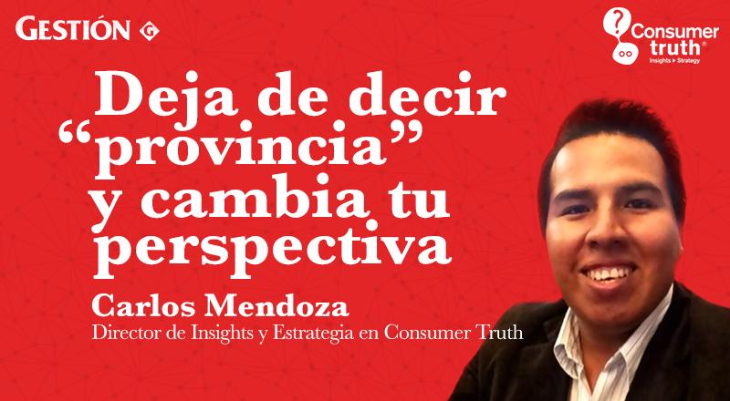 Deja de decir provincia y cambia tu perspectiva - Charly Mendoza