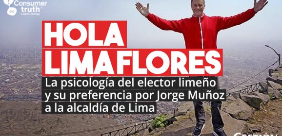 """""""Hola Limaflores"""": La psicología del elector limeño y su preferencia por Jorge Muñoz a la alcaldía de Lima"""