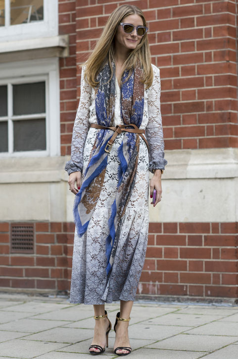 olivia-palermo-lace-dress-scarf-skinny-belt-outfit-h724