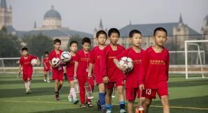 El fútbol ha llegado a todas las escuelas de China.