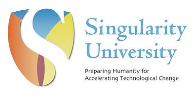 Singularity University Logo Blend Text White