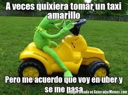 taxi amarillo uber