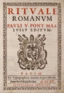 Rituale Romanum title page