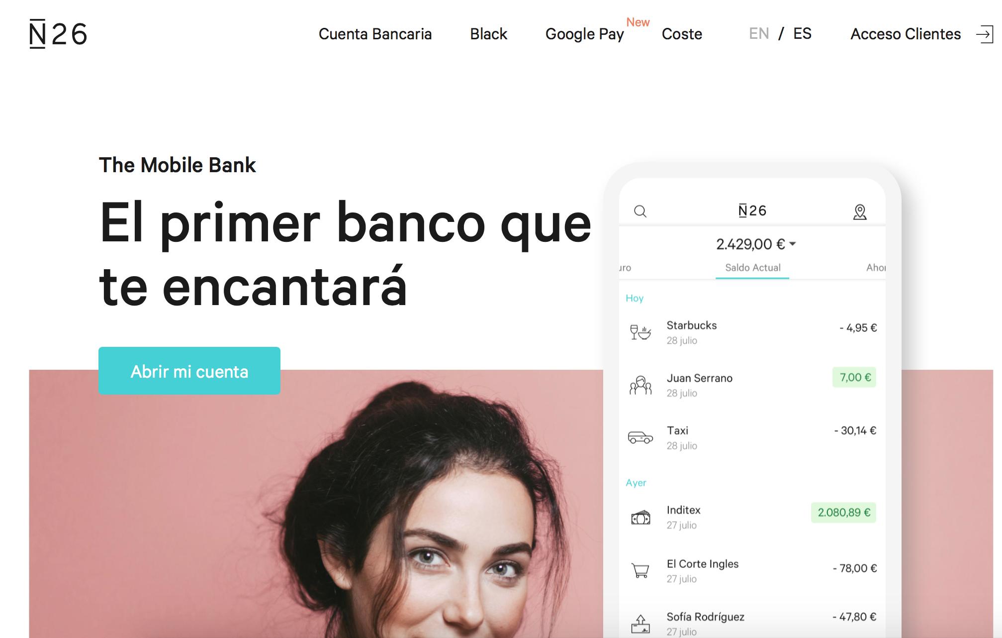 La experiencia con N26, el banco nativamente móvil