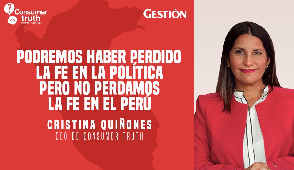 Podremos haber perdido la fe en la política pero no perdamos la fe en el Perú