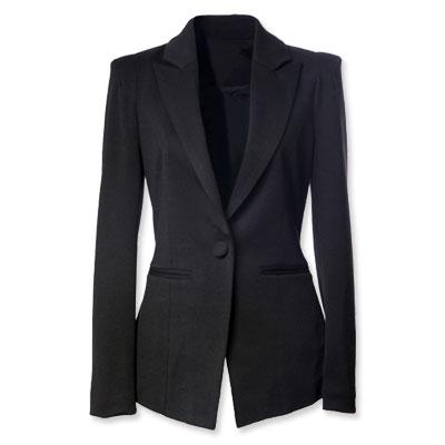 Vestido negro blazer azul