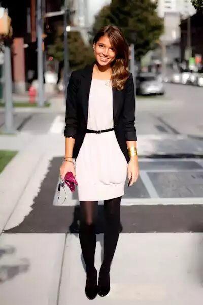 Vestidos con media negra