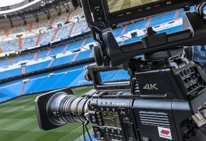 Cámara de transmisión deportiva en definición 4K.