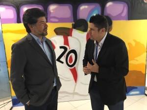 Conversando con Carlos Reyes del BBVA Continental.