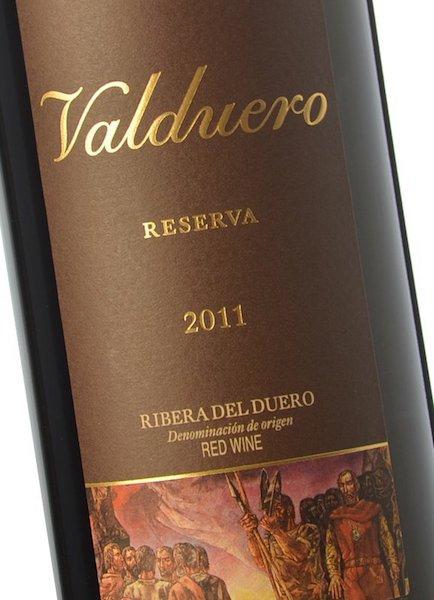 Valduero reserva etiqueta
