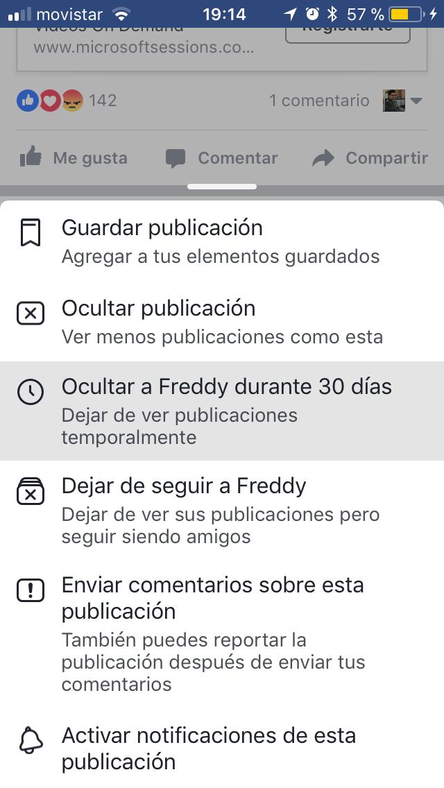 Facebook cambia las reglas de juego y ahora permite silenciar publicaciones