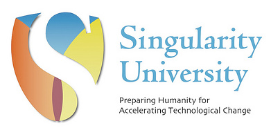 Singularity University Logo Blend Text White