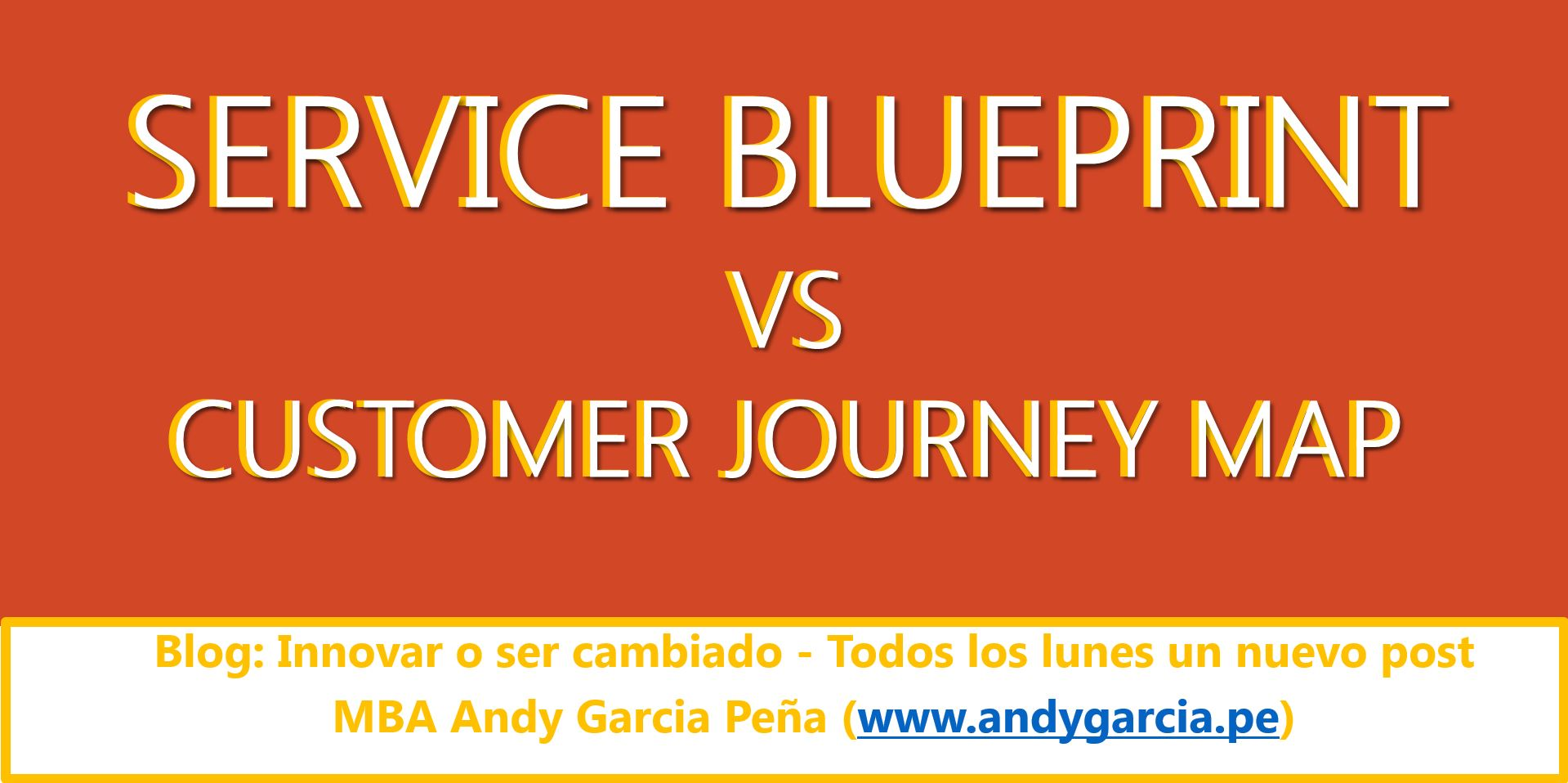 Service Blueprint vs Customer journey map