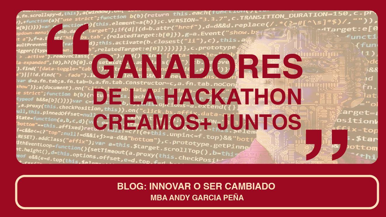 Ganadores de la Hackathon Creamos Juntos