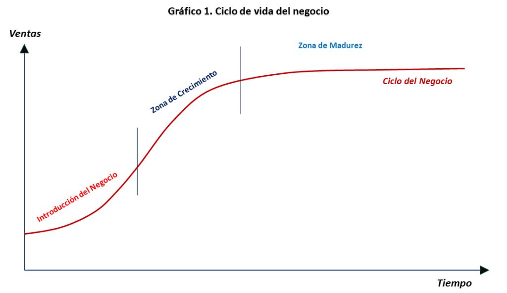 Grafico1. Ciclo de vida del negocio