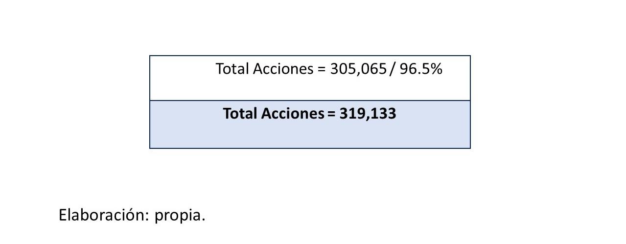 Gráfico 11.. Total de acciones 3