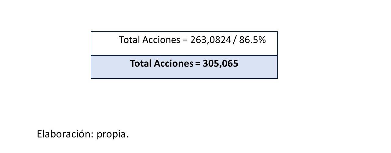 Gráfico 9.. Total de acciones 2