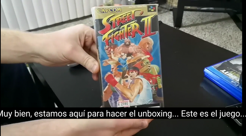 Unboxing de Street Fighter 2 Súper Famicon
