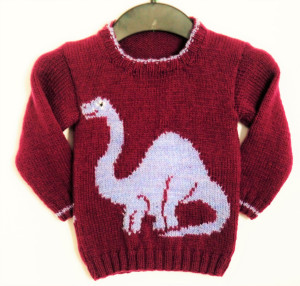 Suéter de dinosaurios
