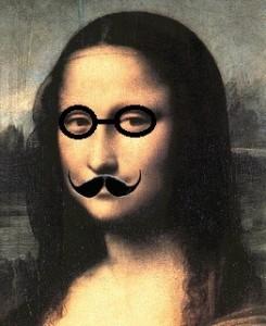 monalisa con bigote