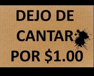 CARTEL DEJO DE CANTAR