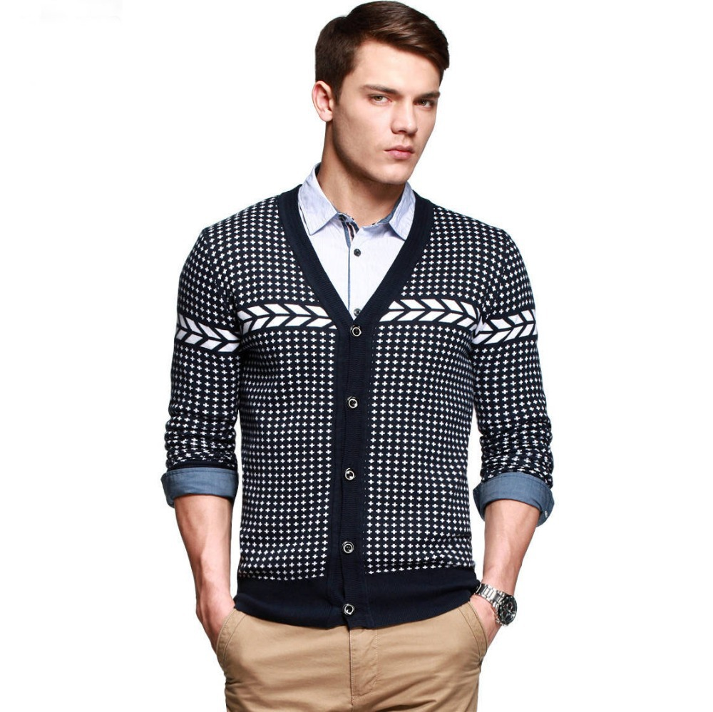 2014-main-push-Mens-fashion-cotton-V-neck-sweater-Cardigans-for-men-Brand-Knitwear-Free-shipping