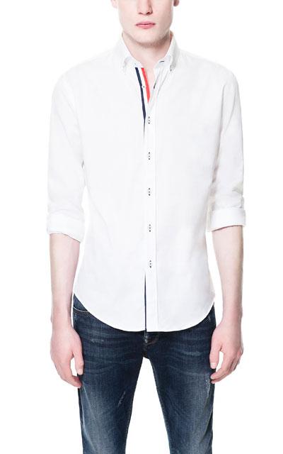 Zara camisa cinta blanco