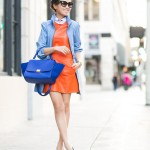 How-to-Wear-and-Mix-Orange-with-Blue-Outfits-12