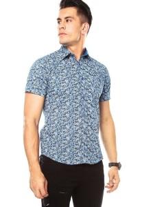 2017 Los más populares AL Camisas Ropa Masculinos azul con miniprint AL909AT53TUKCO