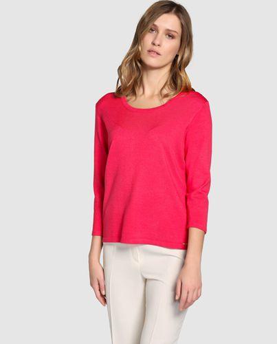 Perfecto Jersey De Mujer Antea Liso En Color Fucsia - 2017 Nuevo Anuncio Salida 3957