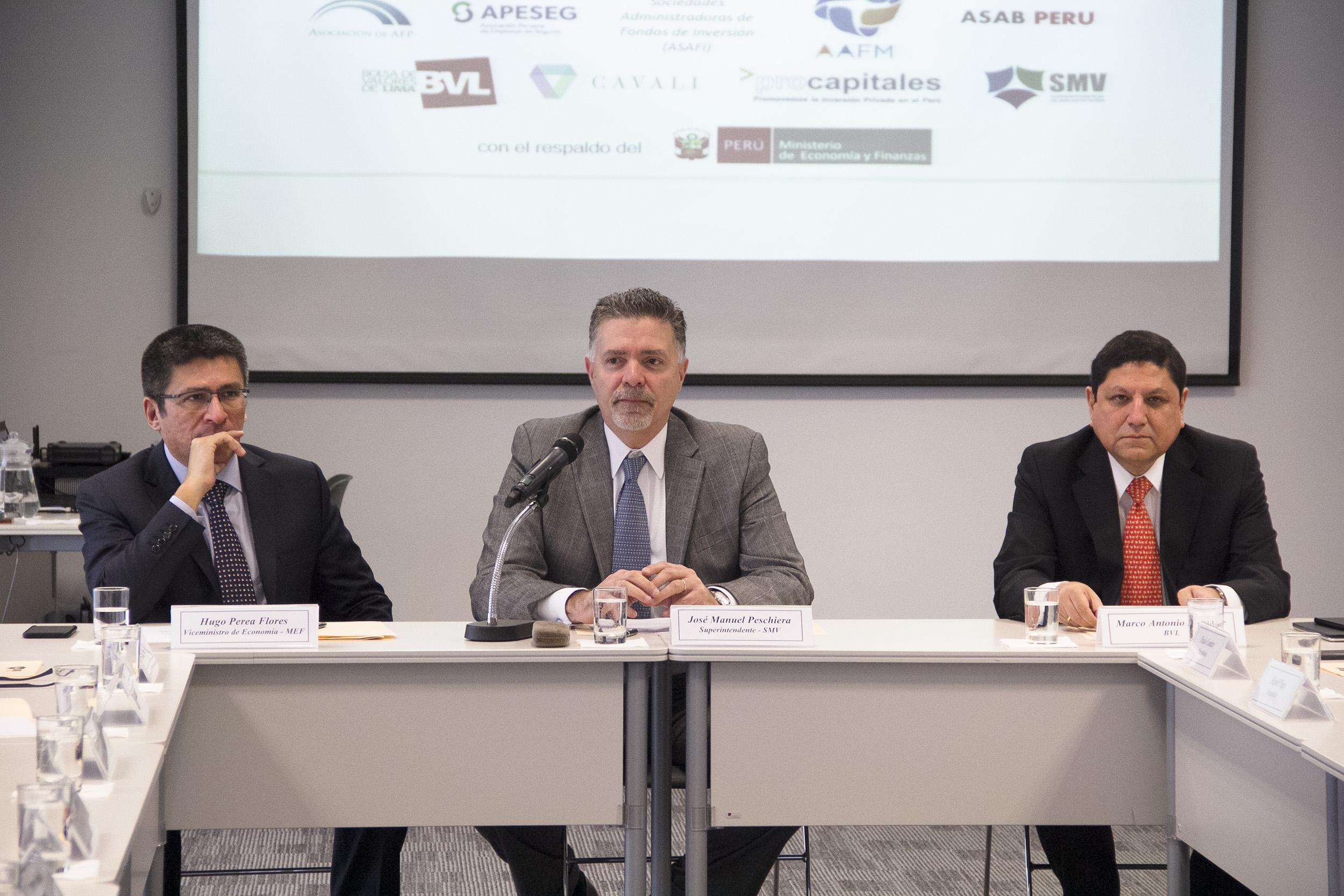 Primera Reunión del Consejo Consultivo del Mercado de Capitales del Perú